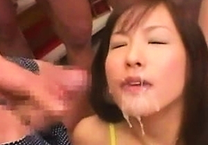 bukkake, cumshots, cute japan girls, facialized,