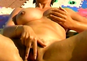 japanese milf, masturbating, pissing,