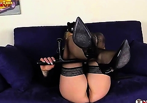 cosplay,feet fetish,foot fetish,hd videos,masturbating,police uniform,stockings,