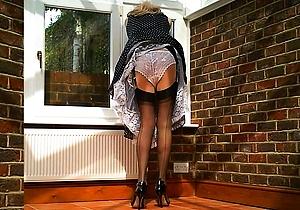 dress,hd videos,heels,nylon,retro,stockings,upskirt,vintage,