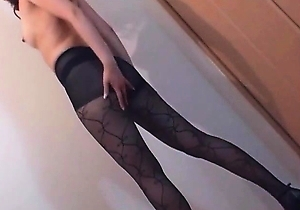 masturbating, nylon, pantyhose, stockings,