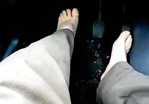 car,foot fetish,hd videos,japan amateur,no condom,outdoors,
