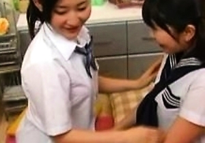 hairy pussy,japan amateur,japan lesbians,jav,kissing,uniform,