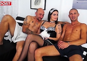 big dick,blowjob,double penetrating,hardcore,hot japanese,japan casting,japanese fuck,japanese maid,japanese with big boobs,threesome  sex,